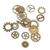 17pcs Steampunk Charm Gear Pendants Wheels DIY Necklace Findings