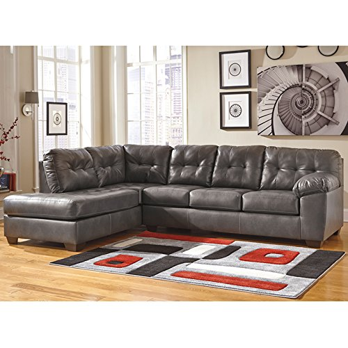 StarSun Depot Signature Design by Ashley Alliston Sectional with Left Side Facing Chaise in Gray DuraBlend 121