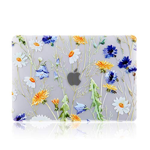 iDonzon MacBook Pro 15 inch Case (2016-2018 Release) A1990/A1707, 3D Effect Matte See Through Hard Case Cover Compatible Newest MacBook Pro 15 inch with Touch Bar and Touch ID - Floral Pattern (Floral Bar)