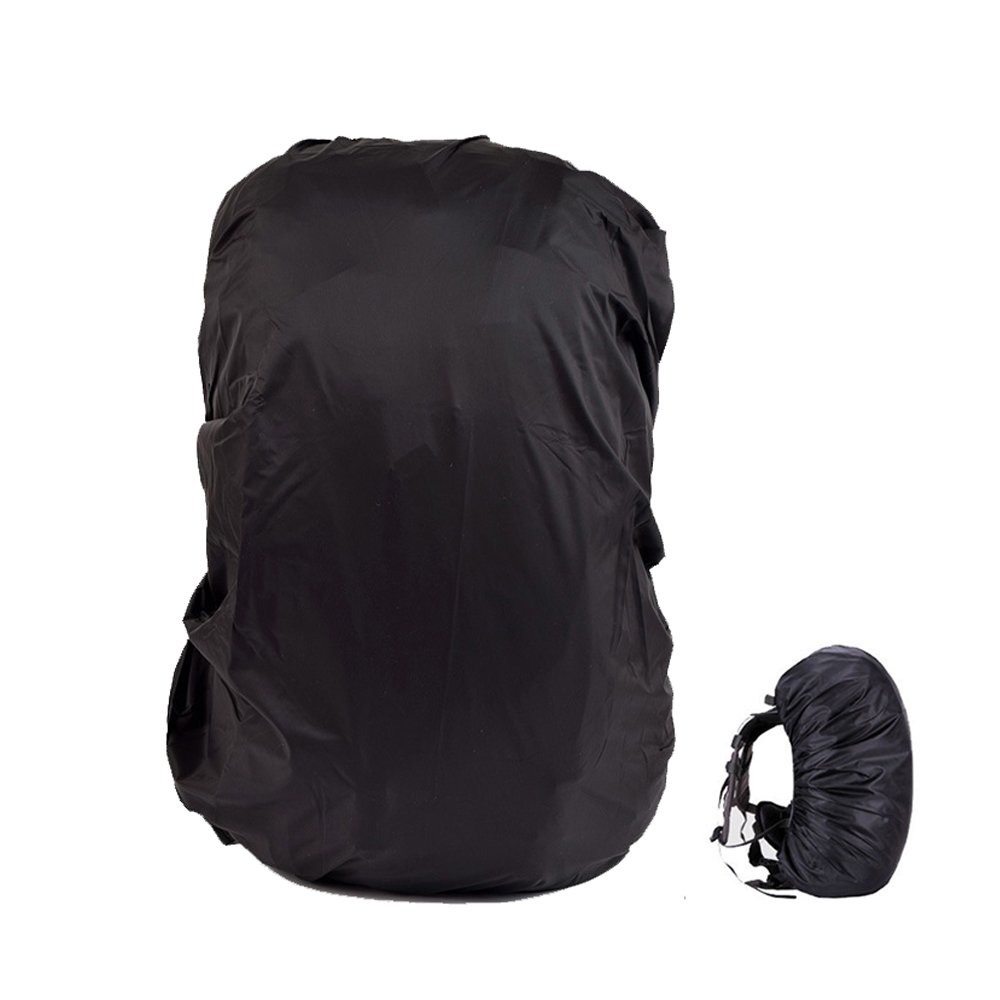 TEKCAM Waterproof Backpack Rain Cover with Storage Bag for 65L-80L Elastic Adjustable Protector Pack Covers for Hiking Camping Traveling Outdoor Activities (Black)