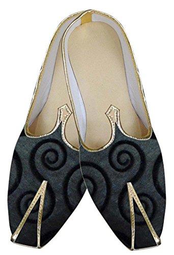 INMONARCH Hombres Boda Zapatos Indio Encantador Gris MJ0170