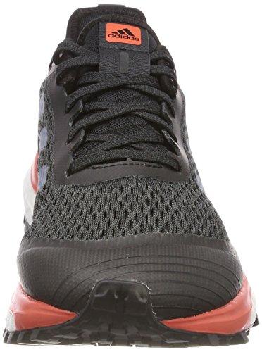 adidas Damen Response Trail Laufschuhe Grau (Carbon/Raw Steel/Trace Scarlet)