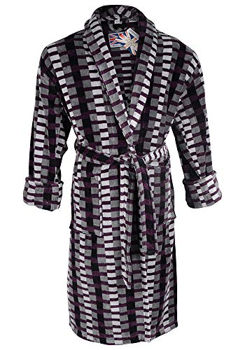 Mens Welshpool 100% Egyptian Cotton Plush Shawl Collar Luxury Bathrobe c07f33e9e