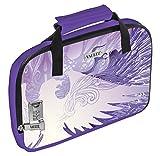 Vaultz Locking Soft-Sided Handgun Case, 3.75 x 13.75 x 9.5 Inches, Purple Eagle (VZ03566)
