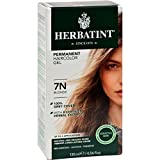 Herbatint Permanent Herbal Haircolour Gel 7N Blonde - 135 ml (Pack of 3)
