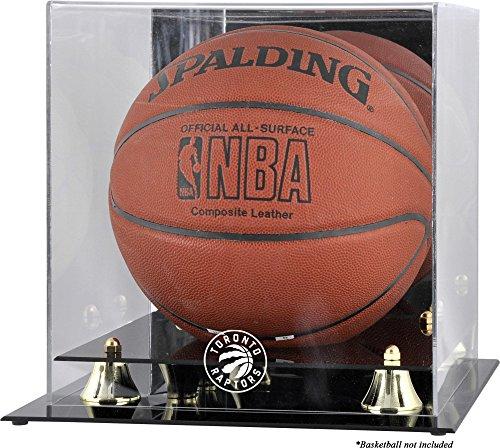 - Sports Memorabilia Toronto Raptors Golden Classic Team Logo Basketball Display Case - Basketball Displays