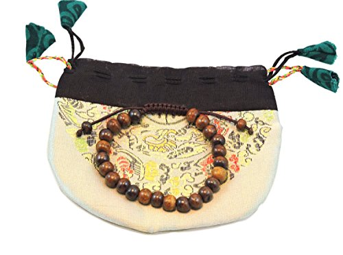 Handmade Dark Yak Bone Wrist Mala Bracelet for Meditation (Plain)