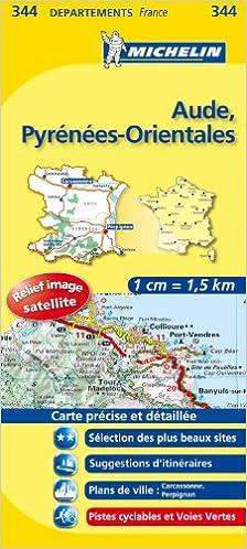Amazonfr Carte Dpartements Aude Pyrnes Orientales
