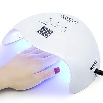 Amazon.com : Gel UV LED Nail Lamp, LKE Nail Dryer 40W Gel Nail ...
