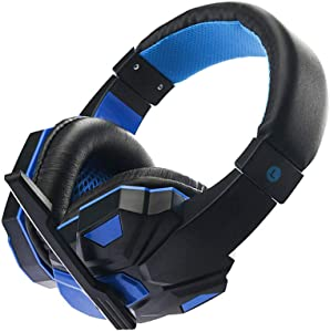Loriver USB 3.5mm Stereo Surround Sound Gaming Headset Noise Cancelling Headband Headphone for PC