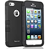Korecase Combo iPhone 5 5S Case,Shockproof Heavy Duty Combo Hybrid Defender High Impact Body Rugged Hard PC & Silicone Case Protective Cover For Apple iPhone 5 5S SE