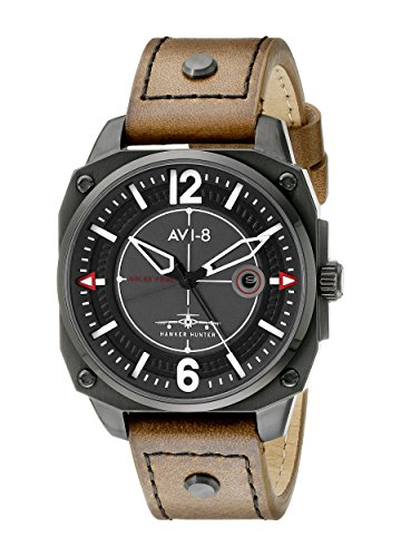 AVI-8 Men's AV-4039-03 Hawker Hunter Analog Display Japanese Quartz Brown Watch