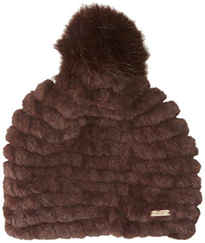 Calvin Klein Women's Knit Faux Fur Pom Pom Beanie Accessory