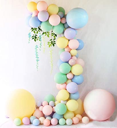 Beaumode Diy Pastel Balloons Garland Kit 104 Pcs Assorted Macaron Candy Colored Latex Party Balloons Arch For Wedding Graduation Kids Birthday Unicorn