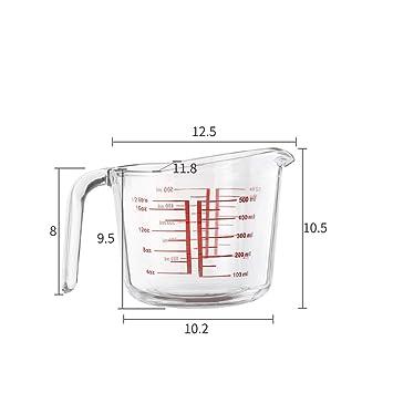 Amazon.com: Baking Tools - Taza medidora de cristal templado ...