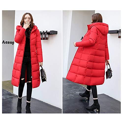Giacca Size Plug Red Wososyeyo Coat Ispessimento Slim Dimensioni Winter Invernale Casual L amp; In Cotone Women xa875nqpw5