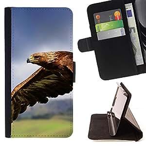 Jordan Colourful Shop - eagle flying magnificent big bird nature For Apple Iphone 6 PLUS 5.5 - < Leather Case Absorci????n cubierta de la caja de alto impacto > -