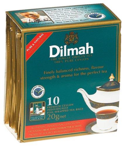 Dilmah Tea, 100% Pure Ceylon Tea, 10-Count Foil Wrapped Tea Bags (Pack of - 10 Foil English Breakfast