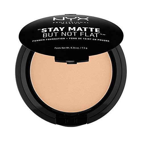 NYX PROFESSIONAL MAKEUP Stay Matte but not Flat Powder Foundation, Medium Beige, 0.26 Ounce