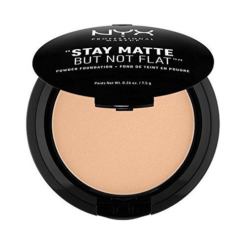 NYX PROFESSIONAL MAKEUP Stay Matte but not Flat Powder Foundation, Medium Beige, 0.26 Ounce