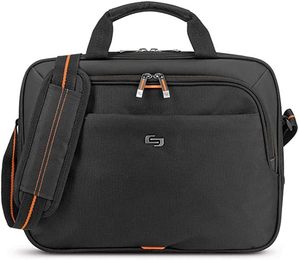 Solo New York Ace Slim Brief Laptop Briefcase, 13.3 Inch, Black, One Size
