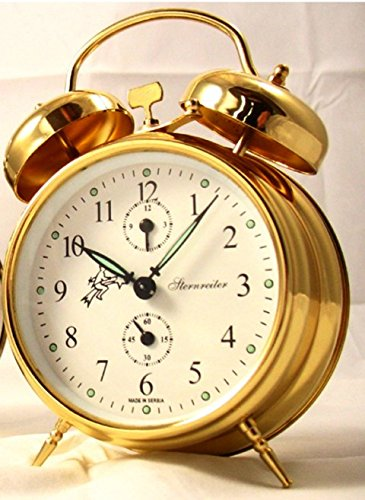 Sternreiter Double Bell Mechanical Wind Alarm Clock - Gold by Sternreiter (Image #1)