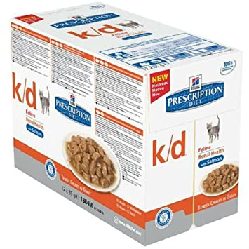Hill s Prescription Diet Feline K-D - Bolsa de carne (12 x ...