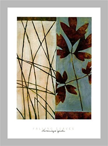 FRAMED Falling Leaves by Dominique Gaudin 36x24 Art Print Po
