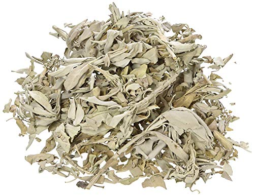 (Incense Garden California White Sage Loose Leaves, Salvia Apiana Clusters, Dry Smudging & Burning Sage, 1 Lb Bag)