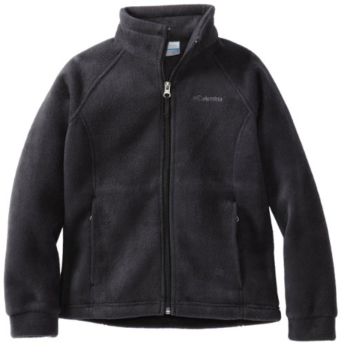 Columbia Big Girls' Benton Springs Fleece Jacket, Black, Medium (10/12)
