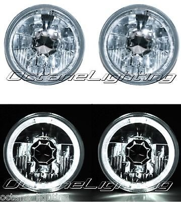 5 3/4 White Led Halo Halogen Light Bulb Headlight