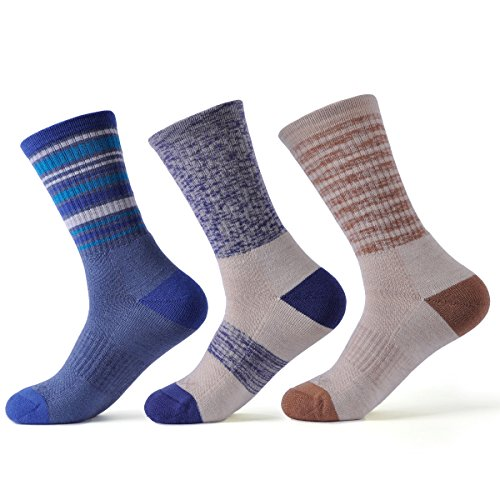 SOLAX Merino Wool Socks Women Hiking Sock 3 Pack (ASST5)