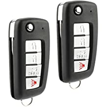 Car Key Fob Keyless Entry Flip Remote fits Nissan & Infiniti (KBRASTU15, CWTWB1U758, CWTWB1U821), Set of 2