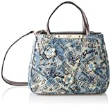 Guess Britta, Women's Top-Handle Bag, Blue (Denim/Den), 28.5x22.5x12 cm (W x H L)