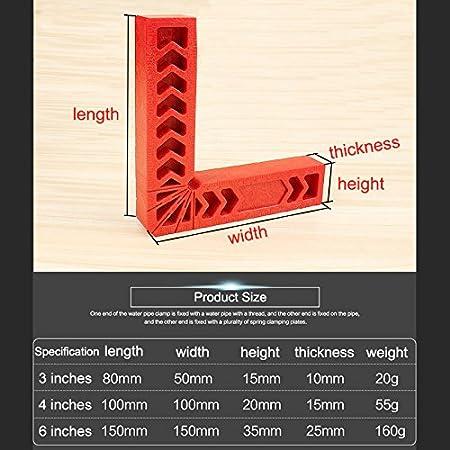 Cutogain 90/Grad Positionierung Squares Kunststoff aufspannung Quadratisch Rechts Winkel Klemme Holz Carpenter Werkzeug 100mm*20mm*15mm B