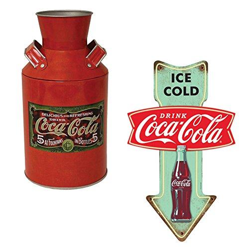 Set  Ice Cold Coca Cola Embossed Tin Sign   Coke Replica Metal Can Decor