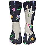 Llama Alpaca Girls Mens Dress Crew Socks Funny Travelers Crazy Socks