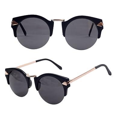 Gafas de sol/Elegantes gafas de sol redondas-F: Amazon.es ...