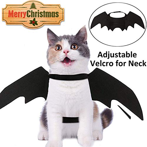 Christmas Pet Costume for Cats Dogs Pet Bat Wings Cospaly Pet Apparel Party Favor Supplies Costume Thanksgiving Birthday Gift Dress Up Party Clothes Plush Kitten Toys Christmas Decoration