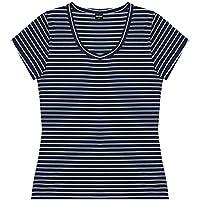 Camiseta Manga Cruta Listrada, Rovitex, Feminino
