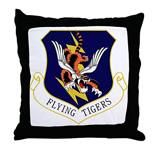 FiuFgyt 23Rd FW Flying Tigers Throw Pillows Couch Cushion Covers Canvas Sofa Pillow Case 18 x 18 ()