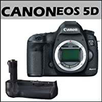 Canon EOS 5D Mark III 22.3MP Full Frame CMOS w/ 1080p Full-HD Video Mode Digital SLR Camera (Body) + Canon BG-E11 Battery Grip for EOS 5D Mark III Digital Camera Basic Facts Review Image