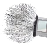 "Movo WS9 Furry Outdoor Microphone Windscreen Muff for Portable Digital Recorders up to 3"" X 1.5"" (W x D) - Fits the Zoom H4n, H5, H6, Tascam DR-40, DR-05, DR-07 & Similar Recorders"