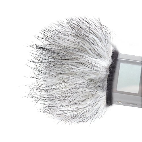 Movo WS9 Furry Outdoor Microphone Windscreen Muff for Portab