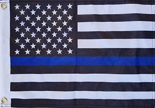 DPSC Inc. 12x18 Blue Line USA Boat Flag Double Sided Grommet Flag
