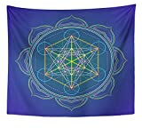 Emvency Tapestry Artwork Wall Hanging Colorful Colored Design...