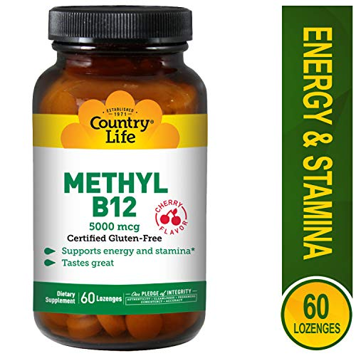 Country Life Methyl B-12 Capsules, 5000 Mcg, 60 Count