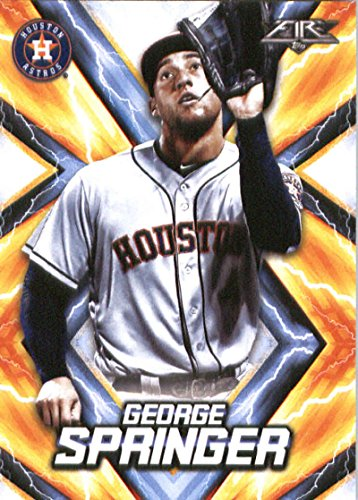 2017 Topps Fire #73 George Springer Houston Astros Baseball Card