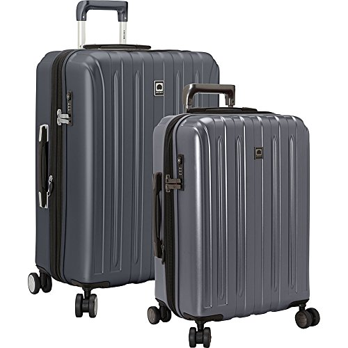 Duffel Delsey Lightweight - Delsey Luggage Titanium 2 Piece Hardside Spinner Carry on and Check in Set, Graphite