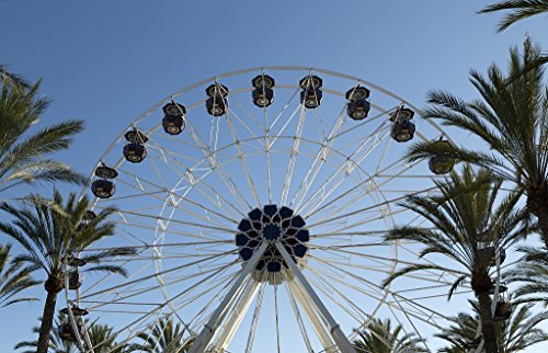 24 x 36 Giclee print of Ferris wheel at Irvine Spectrum Center a shopping center located in Orange County California r91 2012 by Highsmith, Carol - Center Irvine Spectrum